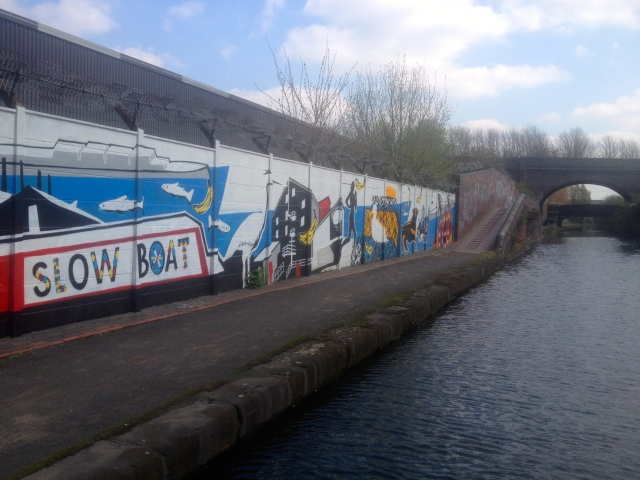 Colourful mural opposite The Bond