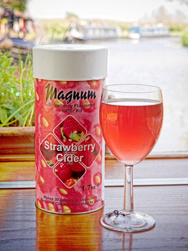 Magnum strawberry cider - yum!