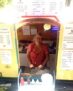 Suzie selling her spuds