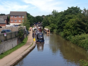 Trading boats along the Trent and Mersey Canal at Middlewich