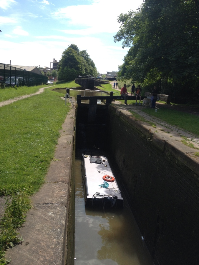 The sunken day hire boat, Lock 74