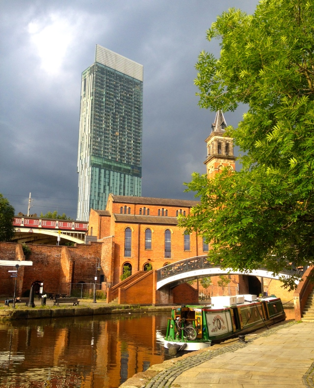 Moored up at Castlefield Basin at the Deansgate end