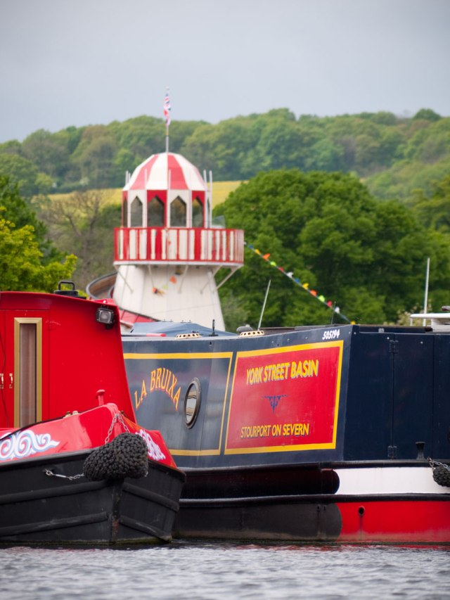 The Helter Skelter at the charming fun-fair by the River Severn