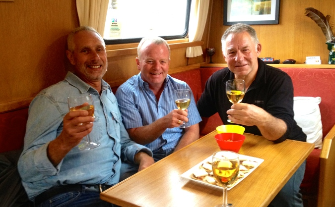 Cheers! So fantastic to spend a short time with you both - look forward to a longer time in the future