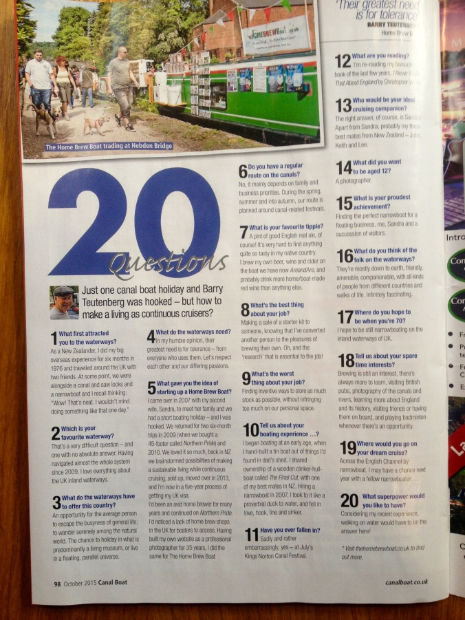 20 questions Canal Boat Sept 2015