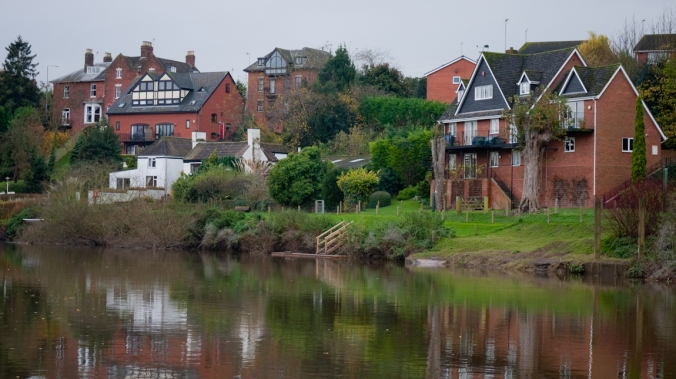 Houses on the River Severn, Worcester