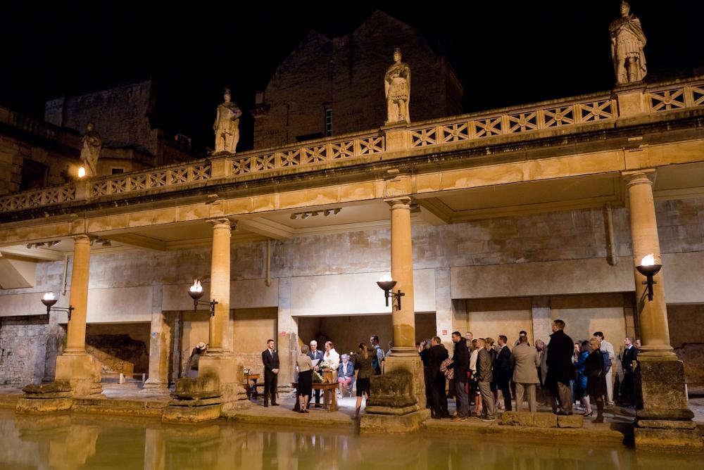 Roman Baths, Bath, wedding