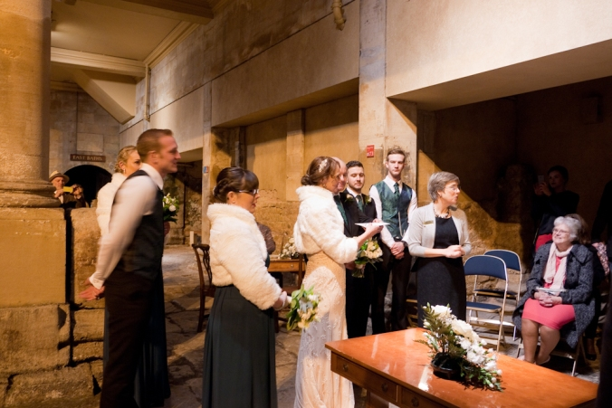 wedding at the Roman Baths