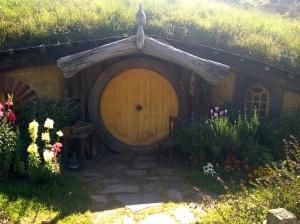 Hobbit hole at Hobbiton