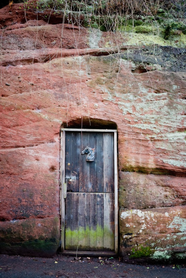 Sandstone cliffs Wolverley