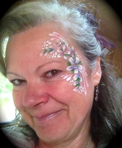 Flowers facepainting