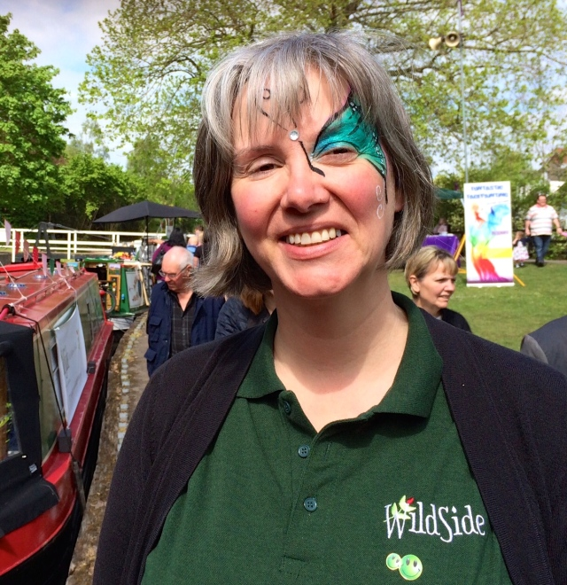 Facepainting at St Richard's Festival, Droitwich