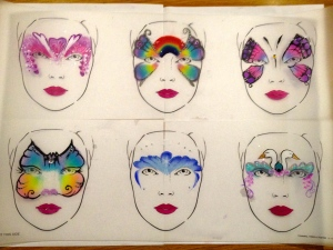 Face-painting design board