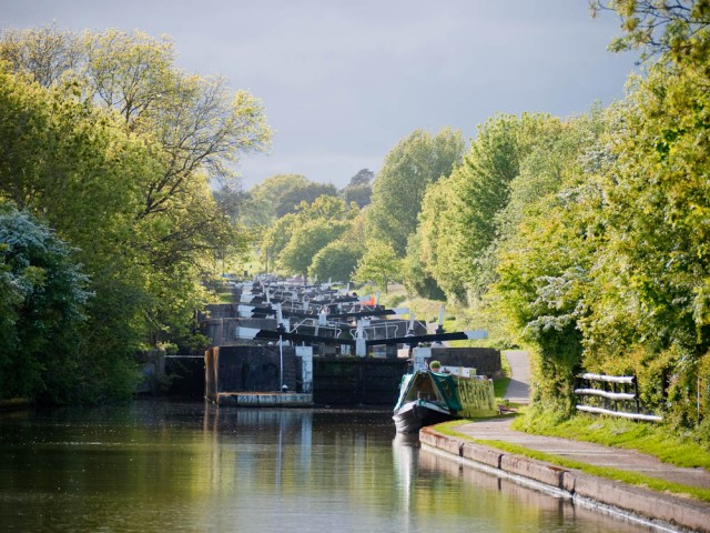 Evening light at Hatton Locks