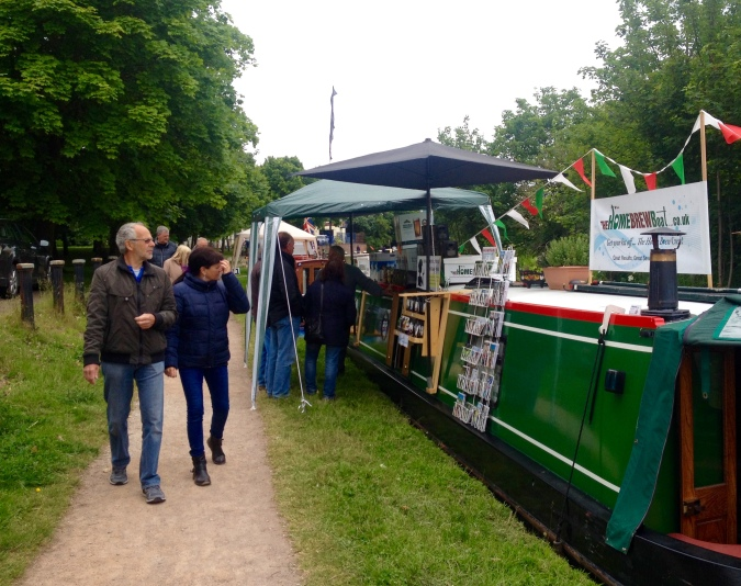 The Home Brew Boat trading at Middlewich FAB Friday 19th June 2015
