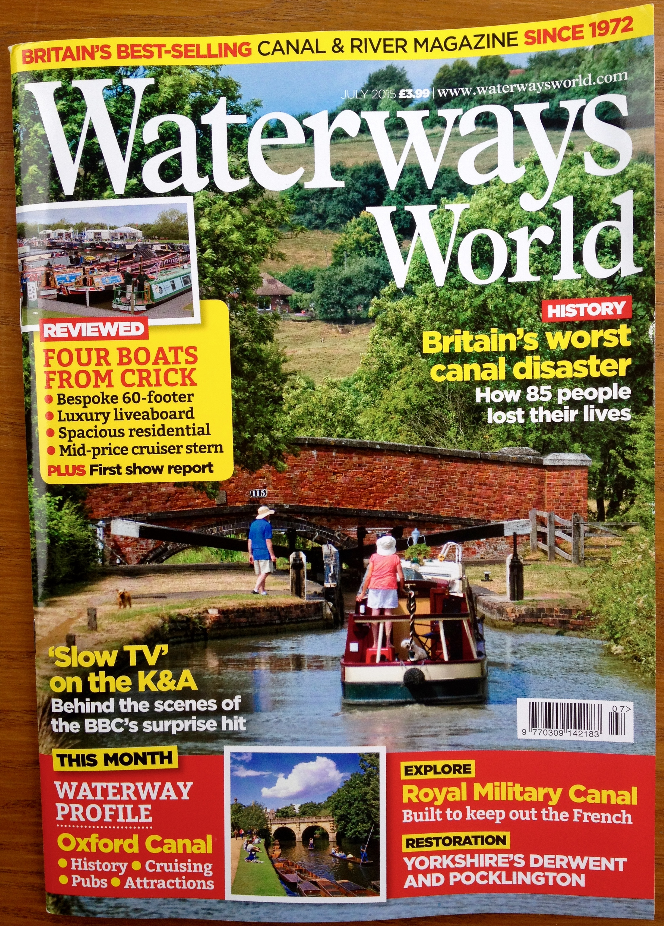 Waterways World cover July 2013