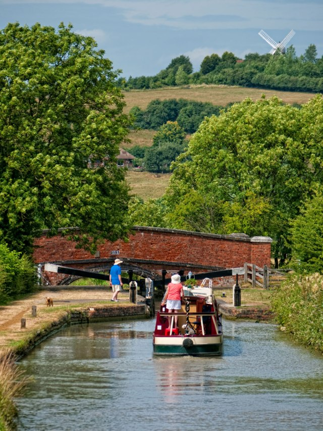 Napton Locks and Windmill on the Oxford Canal