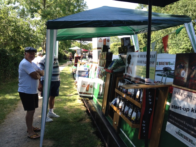 The Home Brew Boat at Blisworth Canal Festival 2015