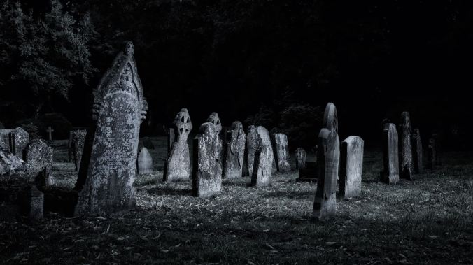 The parish church grave stones at Weedon Bec on the Grand Union Canal