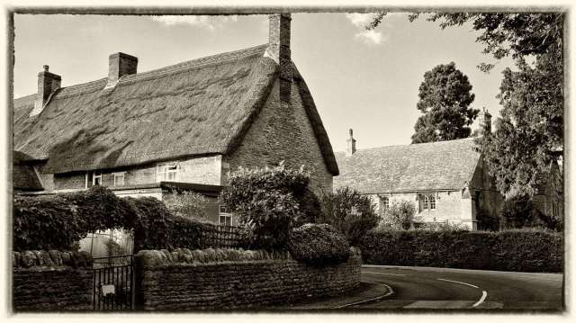 Quaint cottages in the village of Fotheringhay