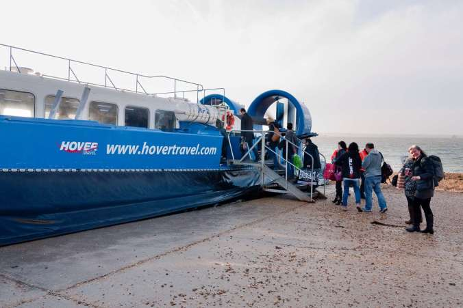 Hovercraft to the Isle of Wight