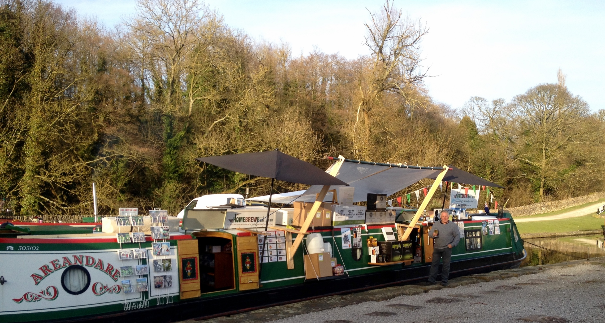 The Home Brew Boat at Bugsworth Basin