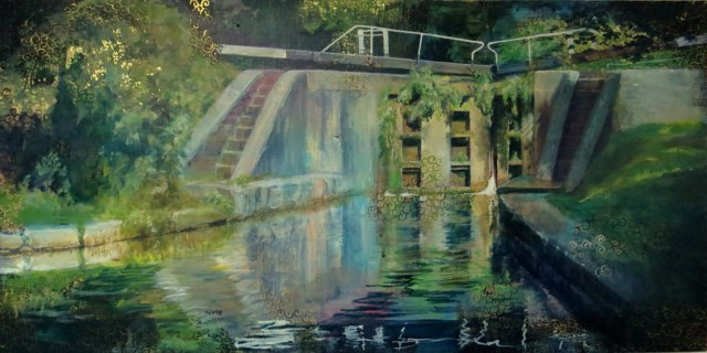 One of Jan's art works - 'Lockgates'