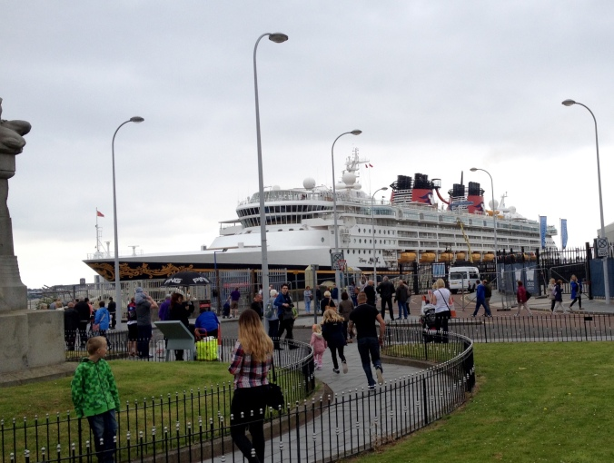 Disney MGM cruise ship at Liverpool June 2016