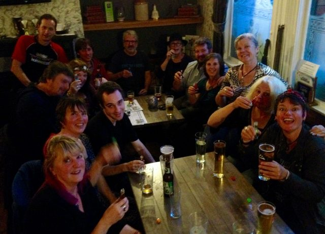 Some of the Floating Traders celebrating a successful weekend at The Boar's Head