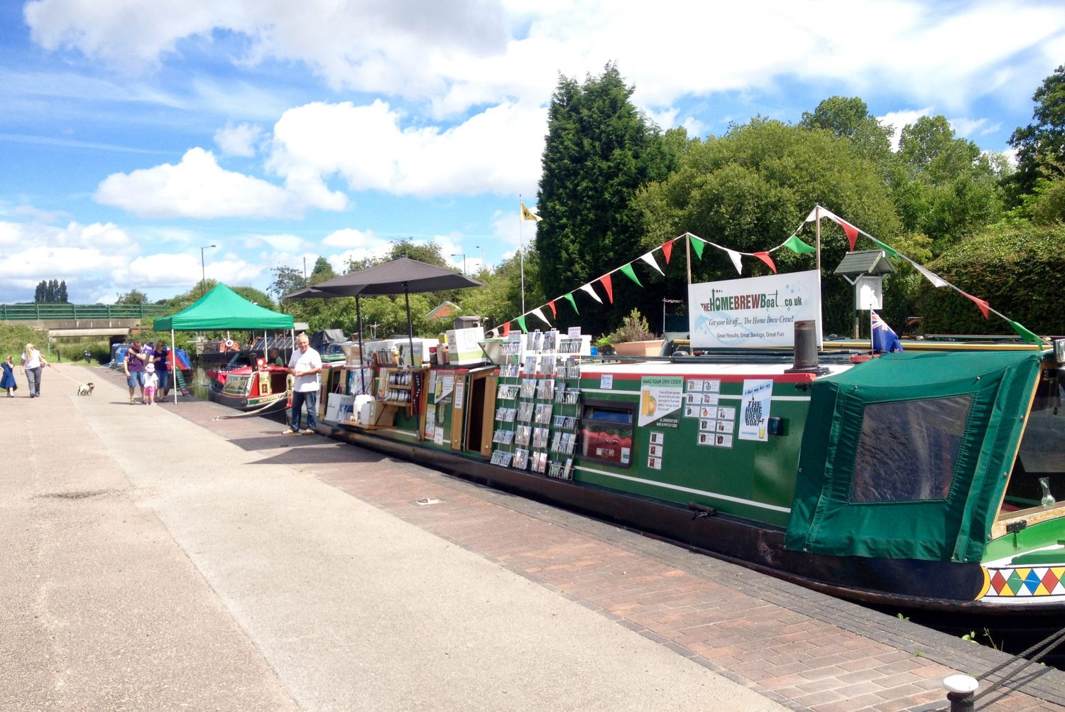The Home Brew Boat and Wild Side at Rushall Lock