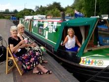 Sheila, Gill and Karen on a (rare) balmy summer evening