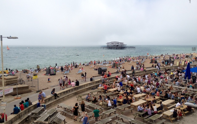 Brighton beach in the height of summer!