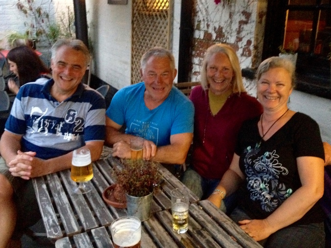 James, Barry, Heather and I at The Cape of Good Hope
