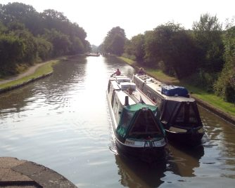Ascending the Hatton Locks early in the morning