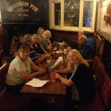 Over 20 narrow boaters gathered at Mad O'Rourke's Pie Factory