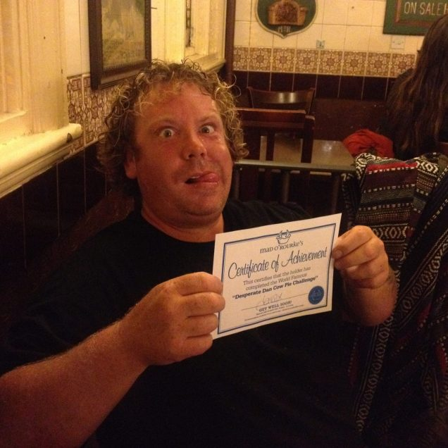 Toastie shows off his certificate of accomplishment!