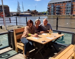 Meeting up with Louise in Gloucester