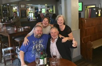 Elaine and John in Chester for the All Blacks game