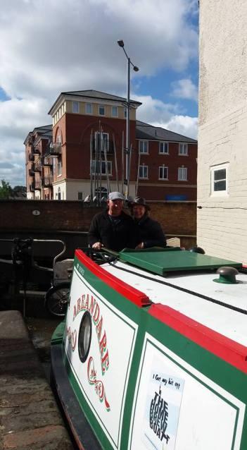 Barry and I entering Gloucester Docks