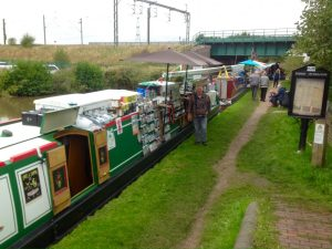 The Home Brew Boat moored up between 'Sugar Rush' and 'Wild Side'
