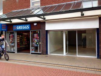 Our shop, next door to Greggs!
