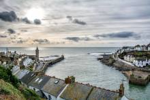 Arial view of Porthleven Harbour