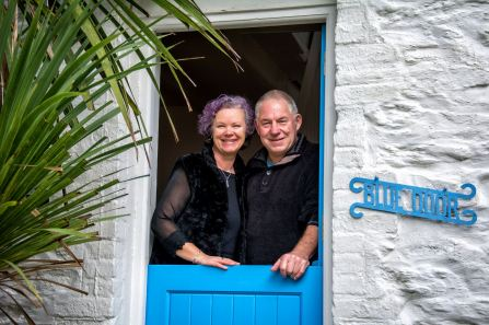 Me and Barry at the Blue Door, Porthleven, January 2018