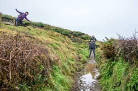 The long and muddy coast path walk