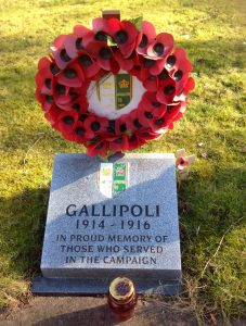 Barry's maternal grandfather fought on Britain's side at Gallipoli in the First World War