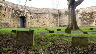 The graves of some of the prisoners