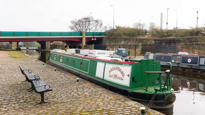 NB Areandare Sheffield visitor moorings
