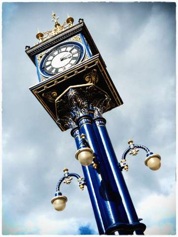 Great looking Victorian clock in the town