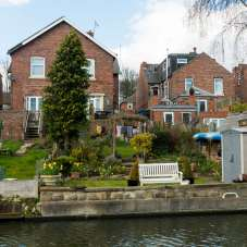 Some attractive houses along the bank