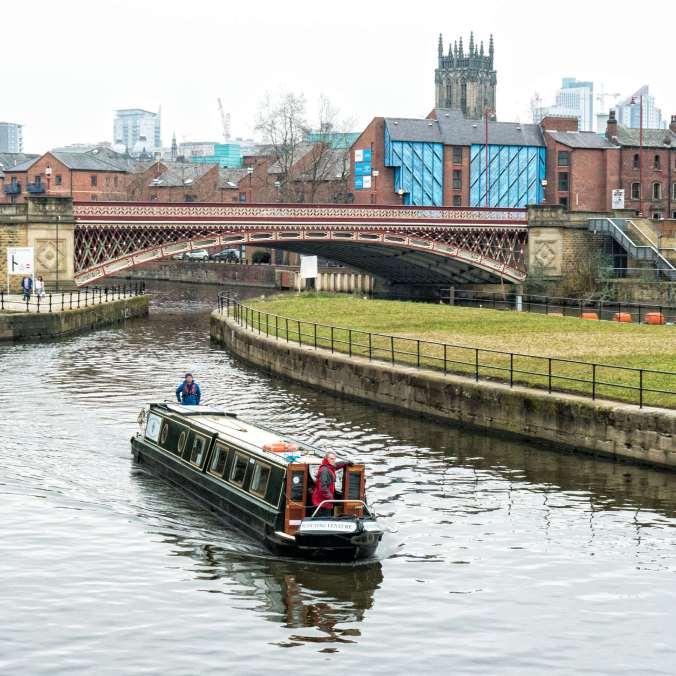 Crown Point Bridge Leeds, on the River Aire, by Barry Teutenberg
